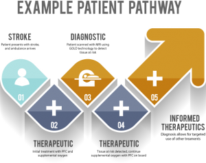 Example patient pathway using the Aurum technologies and therapies