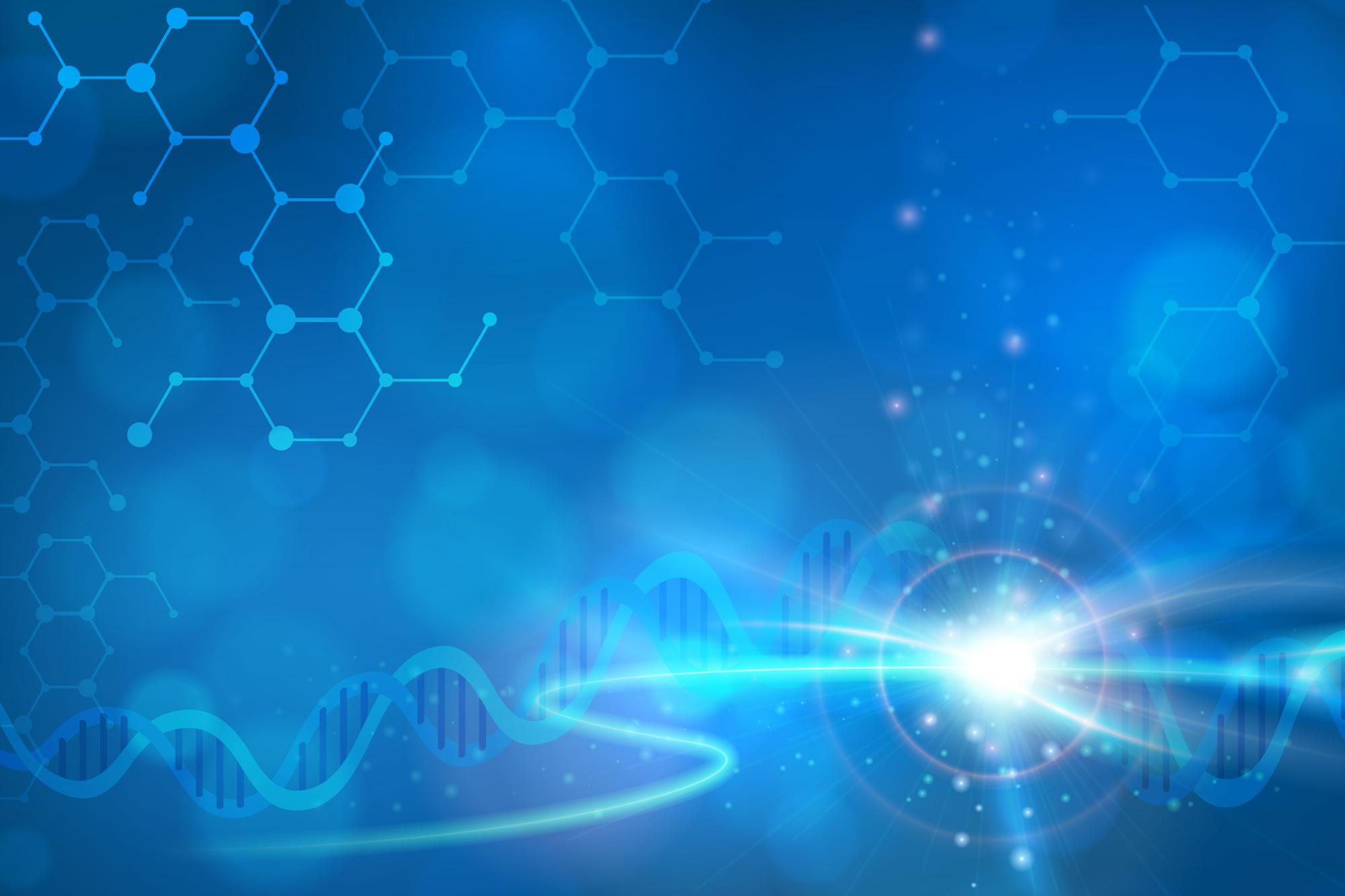 Aurum Biosciences abstract background